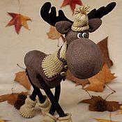 Dolls and handmade toys. Fair Masters - handmade elk. A walk in the woods .. Handmade.