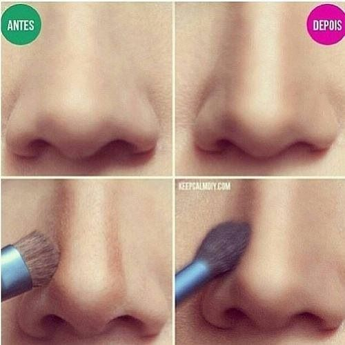 make up - how to make your nose look smaller