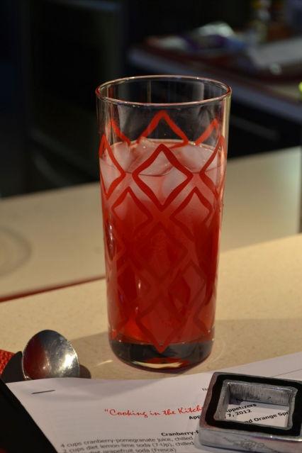 Cranberry-Pomegranate and Orange Spritzer