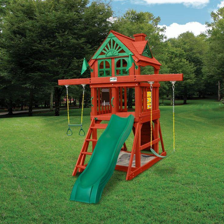 Five Star II Space Saver Cedar Swing Set | Cedar swing ...