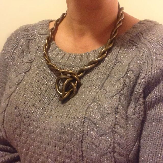 'The Shield'  from @kimbalikes - how clever!  http://kimbalikes.com/knotlace-jewellery/  #style #fashion #jewellery #accessory