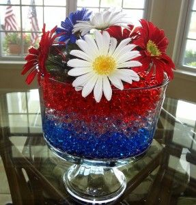 Water Bead Centerpieces for Fourth of July