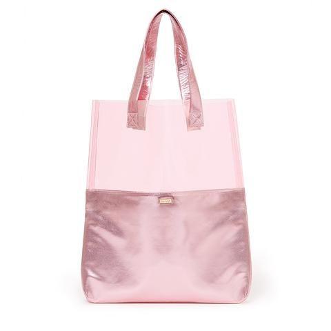 peekaboo tote - pink shimmer