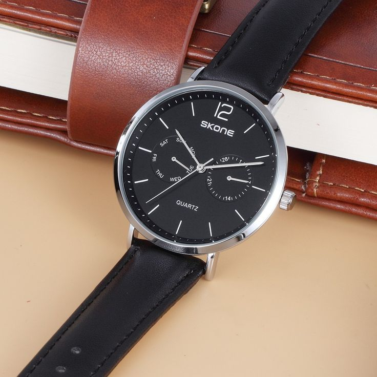 Only US$20.43, #1 SKONE 2017 Fashion Quartz Men Casual Wristwatch 30M Water-Proof - Tomtop.com