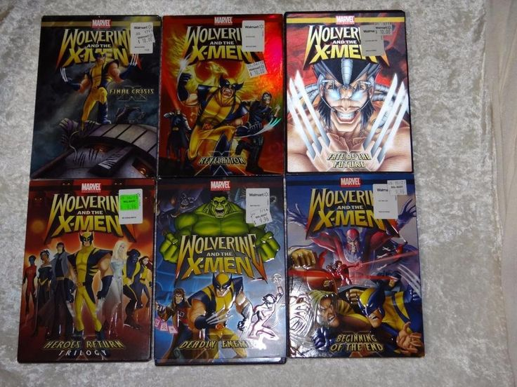 Marvel Animation 2008 Wolverine and the X-Men Series DVDs Volumes 1-6