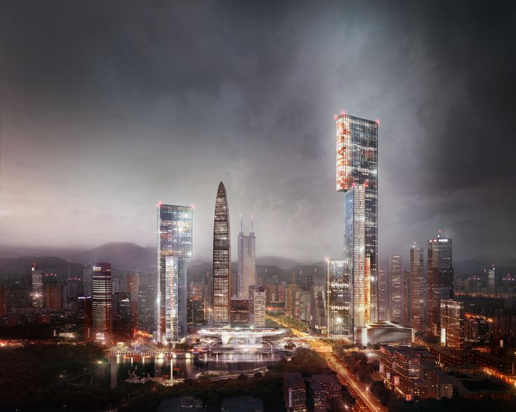 PLP Unveils Pearl River Delta's Tallest Building as Part of New Masterplan,Exterior Rendered View. Image Courtesy of PLP Architecture