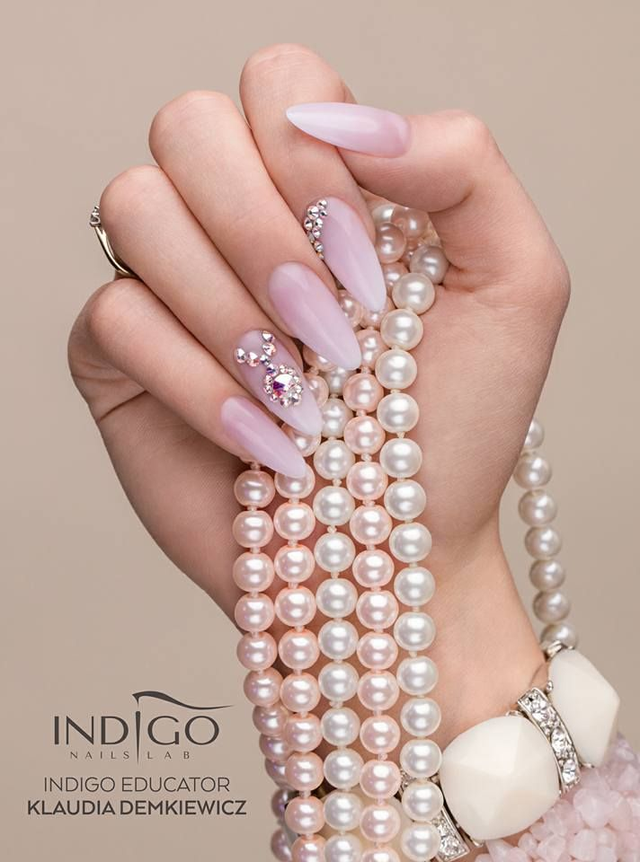 Babyboomer by Klaudia Demkiewicz Indigo Educator #nails #nail #indigo…