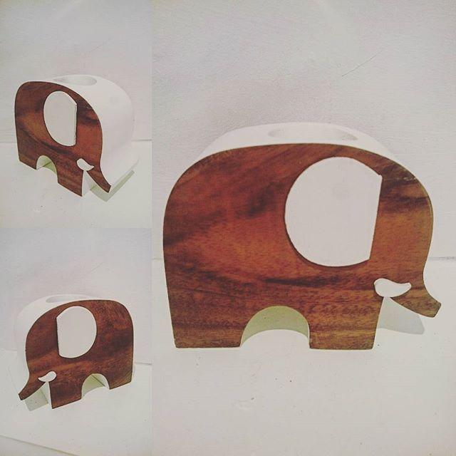 Chunky mid century wooden elephant tea light holder  #madehame #midcentury #modernvintage #elephant #candle #tealight #teak #style #interiors #home #unique #wood #bohostyle #buyonce #chunky