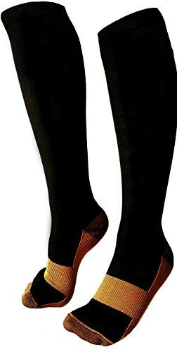 Copper Compression Socks Men  Women BEST AntiSwelling Antifatigue Varicose Veins Pregnancy Travel  Flight Running Therapeutic Grade Leg Support Prevents Swelling and Arthritis SM ** Be sure to check out this awesome product.-It is an affiliate link to Amazon.