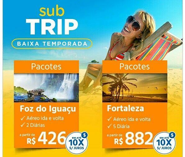 SUB TRIP ☼ Pacote para Foz do Iguaçu a partir de 426 reais. Veja em http://megaroteiros.com.br/submarino  #submarinoviagens #trip #férias #subtrip #promo