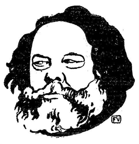 Russian anarchist and philosopher Mikhail Bakunin - Felix Vallotton