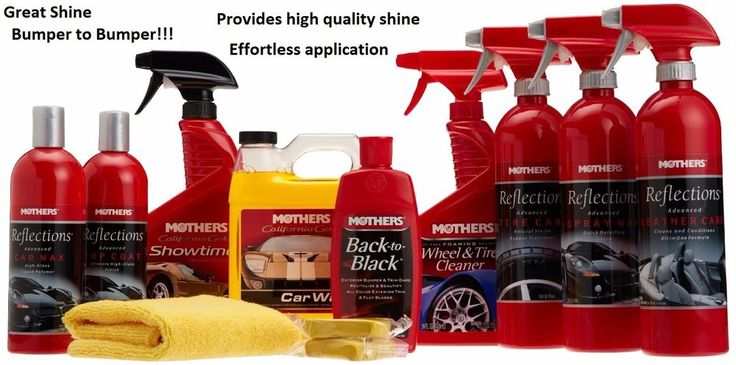 9 Piece Car Shine Care Kit Wax Polish Wash Truck SUV Compound Fast Detail #Mothers