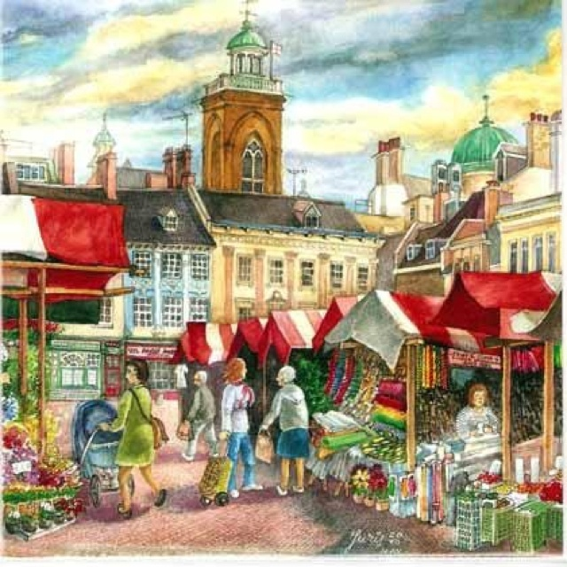 Market square, Northampton England ~ by Sketch Artistjt