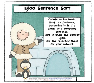 Classroom Freebies: Simple and Compound Sentences