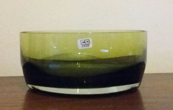 Heavy retro green Caithness glass bowl. Nice condition, some general wear & tear / small scratches mainly on base.    Diameter : 8 inches. | eBay!