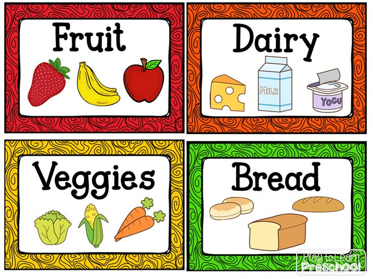 FREE Labels for the housekeeping center/ dramatic play kitchen from Play to Learn Preschool!