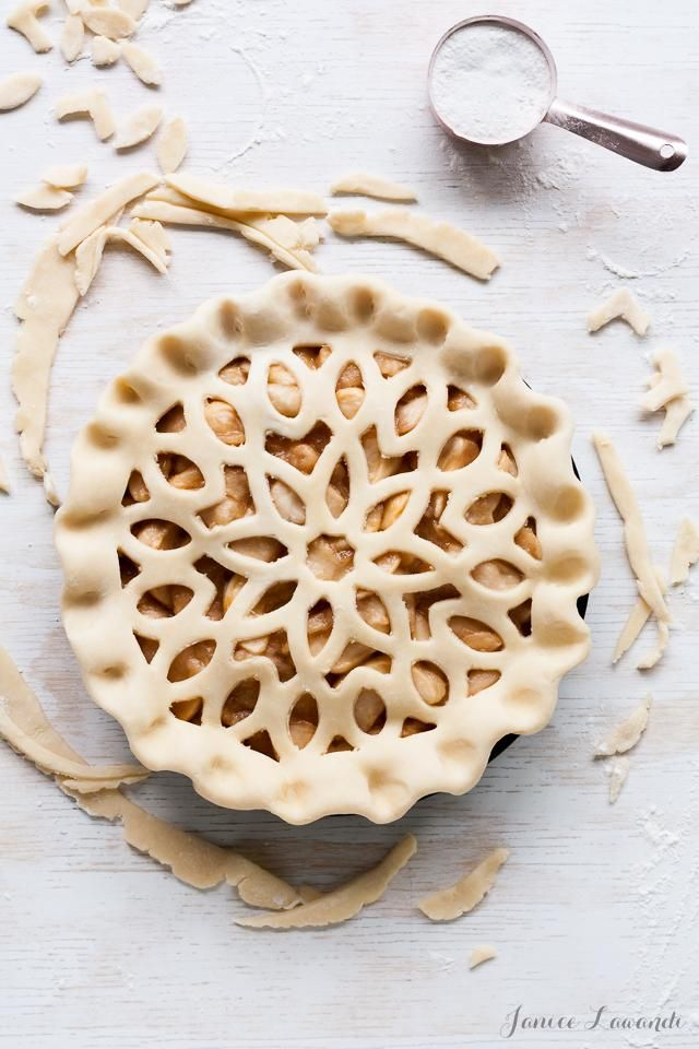 This beautiful and delicious maple apple pie.