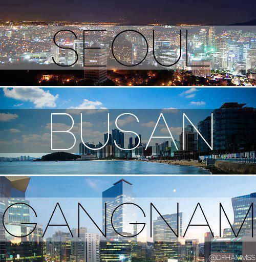 the beautiful skylines of Korea