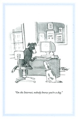 40 best funny cards featuring dogs images on pinterest card funny greetings card by the new yorker on the internet nobody knows youre m4hsunfo Images
