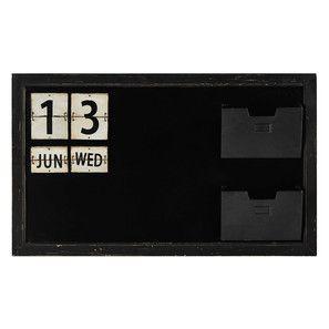 Tableau ardoise en métal noir 60 x 100 cm FREMONT