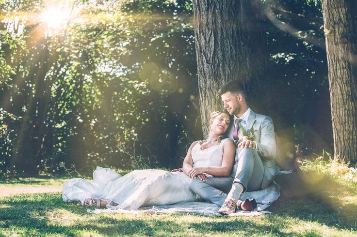 Sunset wedding in the park