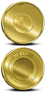 10 euro 200 years Dutch Financial Office - 2006 - Series: Gold 10 euro coins - Netherlands