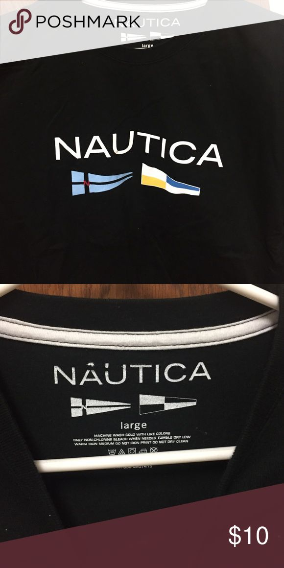 Men's Nautical graphic t-shirt Never been worn men's Nautica short sleeve t-shirt. Had it for years, sitting in my dresser. Size large. Go to Ⓜ️ercari for cheaper shipping! Nautica Shirts Tees - Short Sleeve