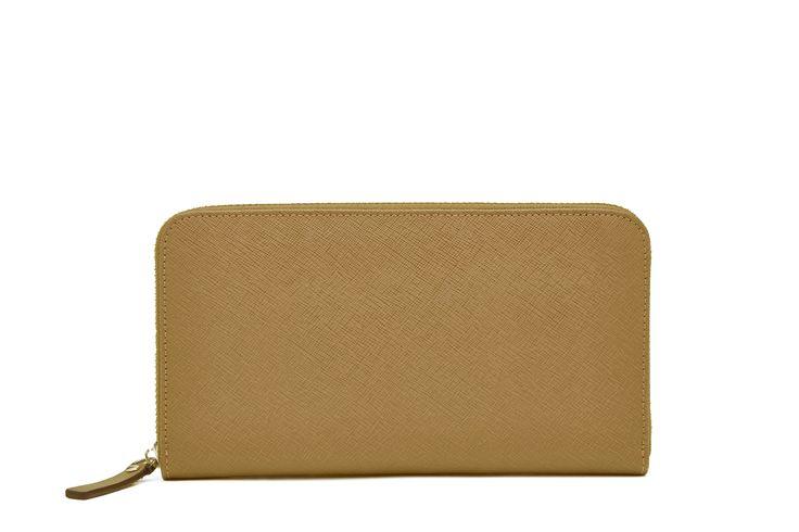 Tan Zipper Wallet