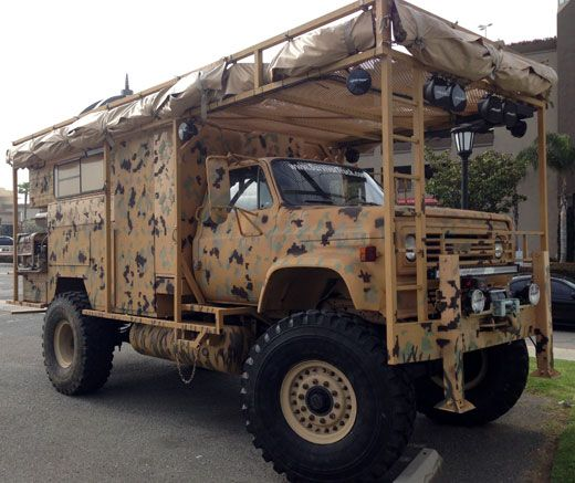 The Survivor Truck Bug Out Vehicle -- Four Wheel Campers and Torklift International participate in one of the most outrageous uses of a truck camper ever conceived.  Doomsday doesn't have a chance.