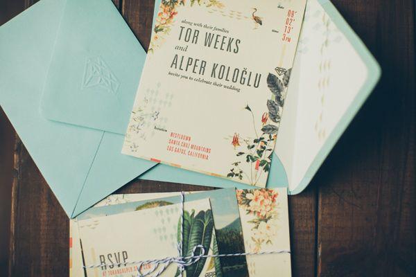 botanical wedding invitations // via ruffledblog.com