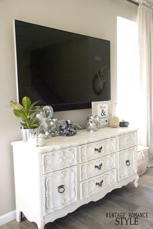 one room challenge, restoration hardware, living room design, french provincial dresser makeover