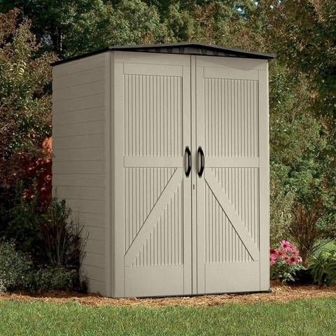 Shop Rubbermaid Roughneck Storage Shed (Common: 5-ft x 4-ft; Actual Interior Dimensions: 4.33-ft x 4-ft) at Lowes.com