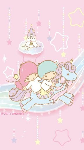 My heart wants to burst with love for this. Soooo cute!  Little twin stars riding a unicorn.