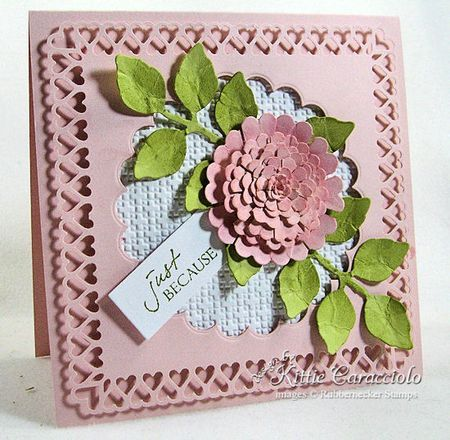 Kittiekraft - Scalloped Flower tutorial - So easy, and the results are gorgeous!