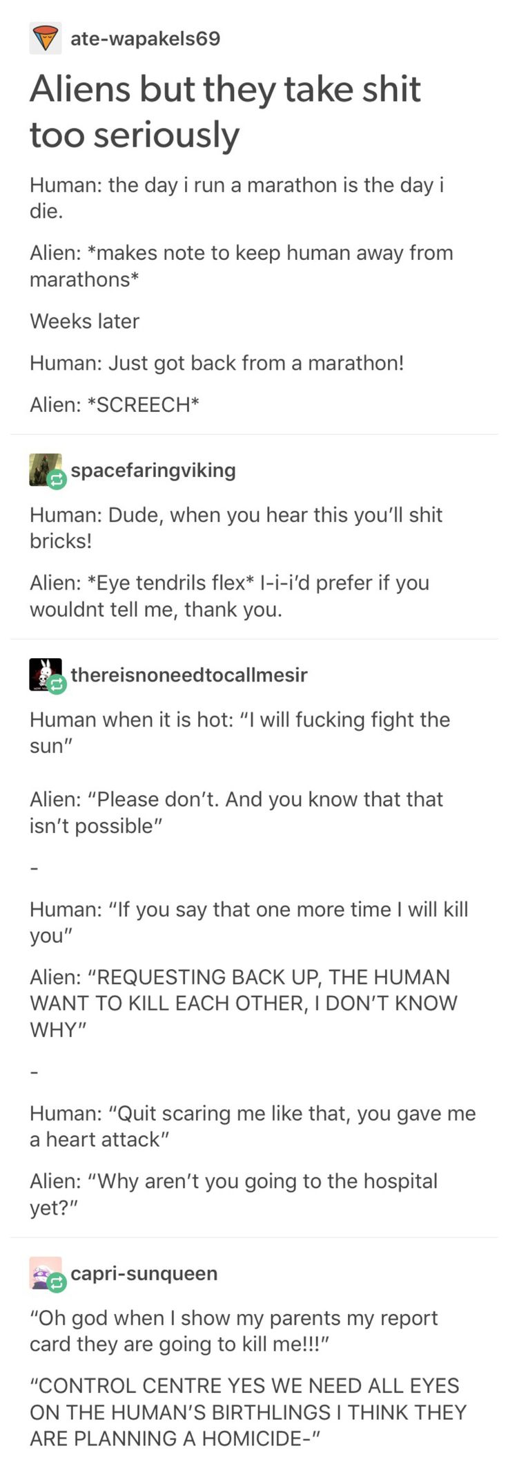 Aliens taking shit too seriously