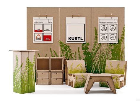 mobiler messestand kurtl mbel aus karton - Einfache Dekoration Und Mobel Samtpfoten Fuer Die Moebel