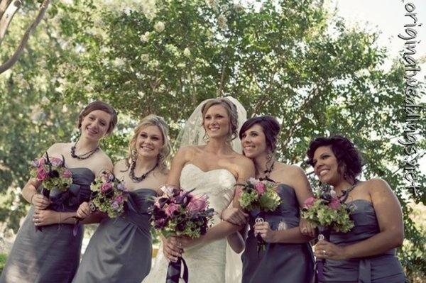 Bridesmaids #Bridesmaids, #Weddings: Holidays Parties, Bridesmaids, Small Pet, Purple Flowers, Bridesmaid Colors, Bridesmaid Bridesmaid, Bridesmaid Dresses Colors, Wedding Bridesmaid, Grey Dresses