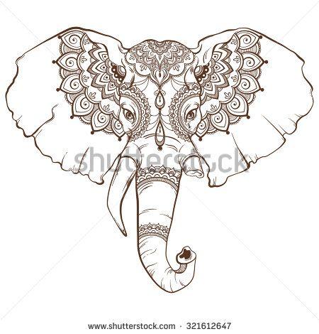 Painted Elephant Head   Stock Images similar to ID 250018822 - beautiful hand painted elephant ...