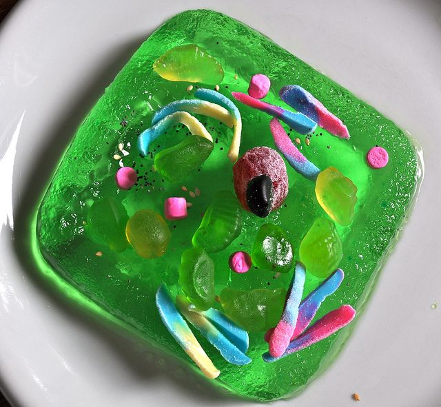 How to do cell biology with jello and candy snacks...brilliant fun way to learn!