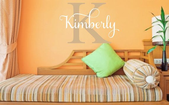 Personalized monogram and name vinyl wall decal for Teen Bedrooms ♥ ♥ ♥ ♥ ♥ ♥ ♥ ♥ ♥ ♥ ♥ ♥ ♥ ♥ ♥ ♥ ♥ ♥ ♥ ♥ PLEASE READ: processing,