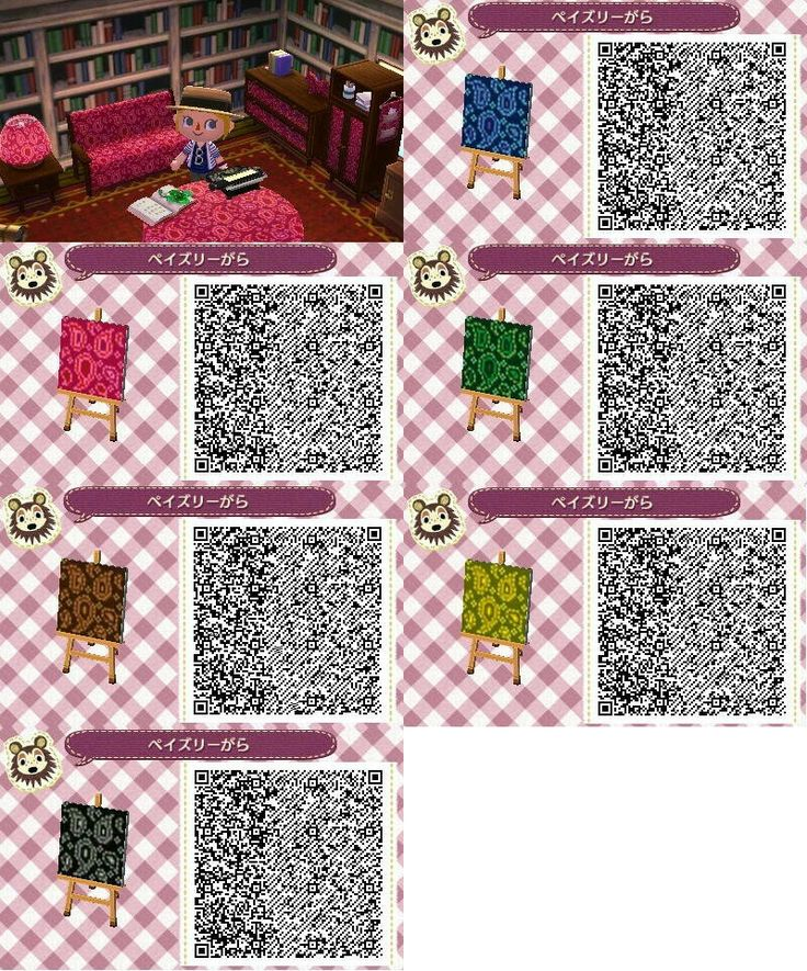 Pin by NoRly ItsRain on Acnl qr walls Animal crossing qr
