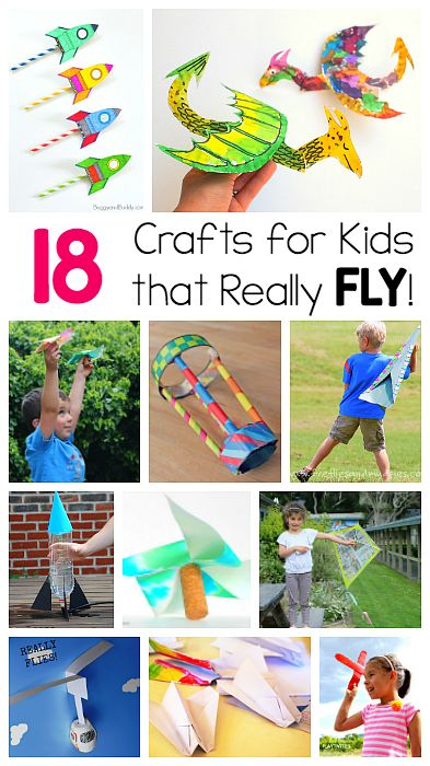 18 Crafts for Kids that Can Really Fly! Including paper airplanes, pinwheels, helicopters, kites, and more! (Fun for kids who love STEM and design activities!)