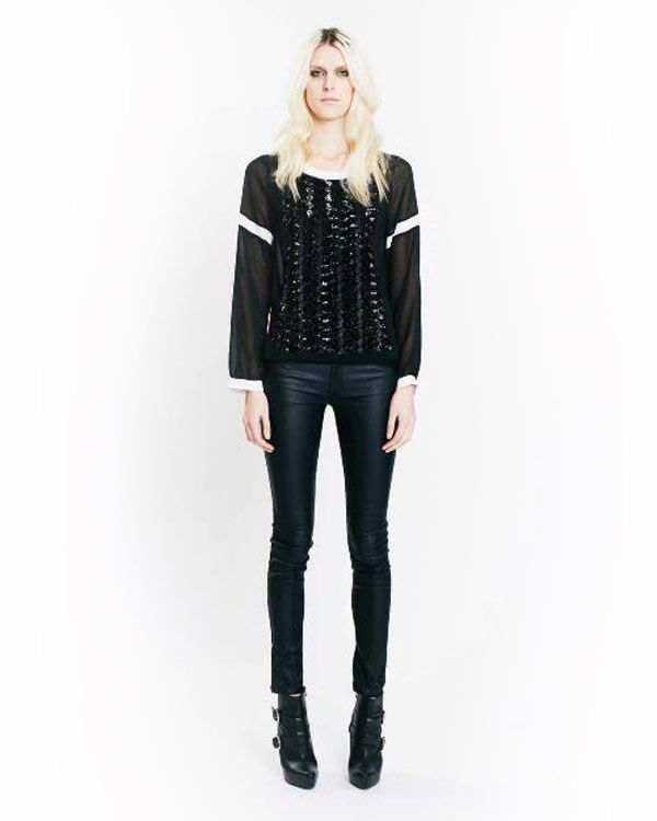 Toi Et Moi Les Frais Long Sleeved Top - All Tops - Clothing - Birdmotel Online Store