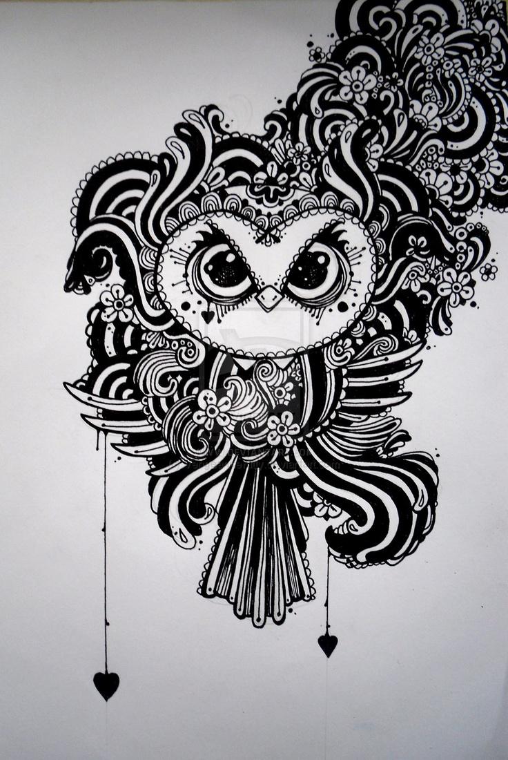 Doodley Owl. VengeanceKitty.deviantart.com