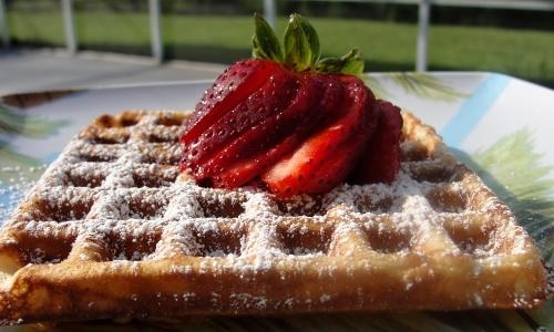 Cardamom Sour Cream Waffles from Food.com: Source: Gourmet Magazine ...