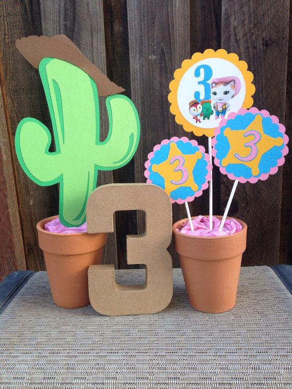 Sheriff Callie Centerpiece | Birthday Decorations on Etsy, $15.00