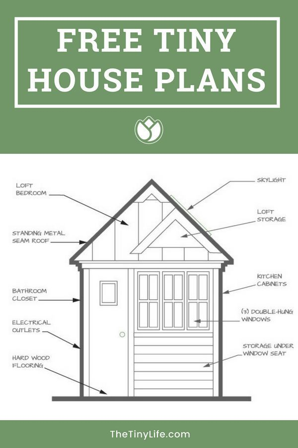 Budget Tiny House - Free Plans in 2019 | Cabins, Homes, RVs, Bunkers