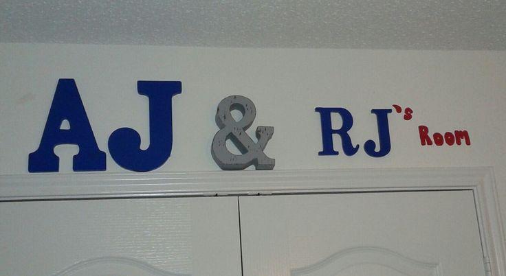 Wedding Initials Wood Sign