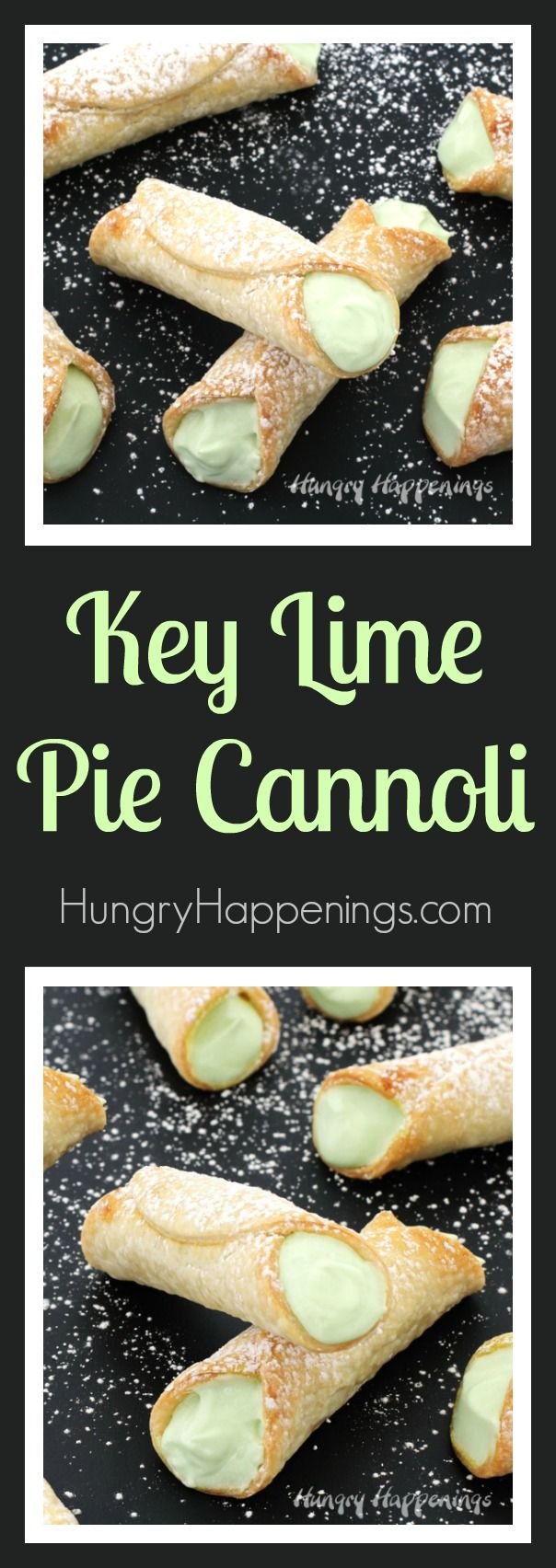 Give a classic summer recipe a fun twist. These sweet and tart Key Lime Pie Cannoli are simple to make using just 4 ingredients and don't need to be cut into slices when serving so they are perfect for an outdoor party, a pot-luck, or even a bridal shower.