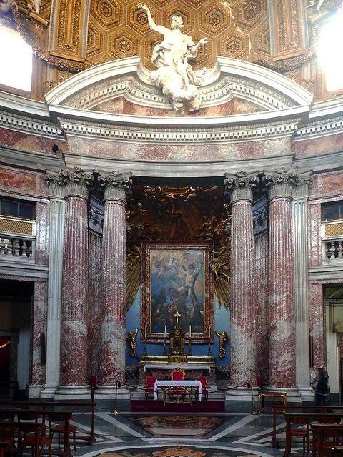 Sant'Andrea al Quirinale looking toward the Altar